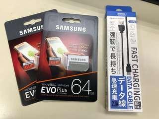 🚚 Samsung EVO Plus Micro SD 64gb