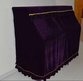 Piano cover 絲絨鋼琴套連雙人凳套 108cm 高 c108