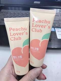 🚚 韓國Peach Lover 甜滋滋蜜桃季 蜜桃指緣護手霜