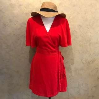 Something Borrowed Wrapped Dress