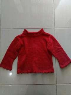 Red Sweater sweater anak perempuan