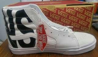 Sepatu Vans SK8 Hi High leather classic tumble true white Original 100%