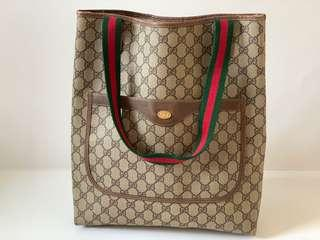 Authentic Gucci Vintage 80's GG Tote Bag