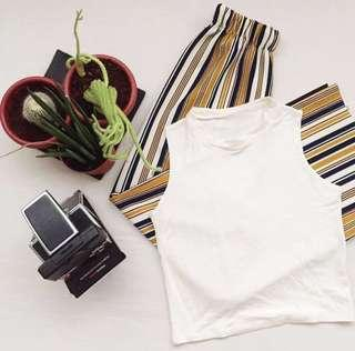 Lo the Label Striped Pants