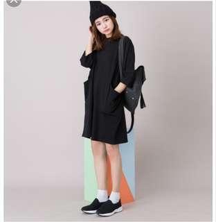🚚 made in Korea大口袋七分袖洋裝 只穿過2次