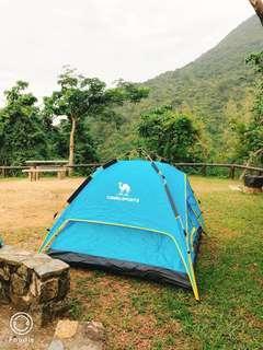 戶外帳篷,有枕自動充氣墊