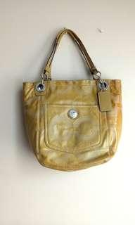Coach Alex Tote Bag Handbag Yellow