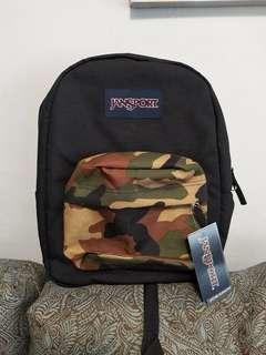 Camouflage backpack original brand new jansport