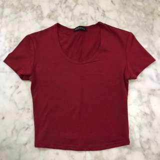 BN Wine Red Crop Top