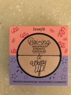 Benefit boi-ing concealer and watts up highlighter duo