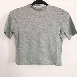 BN Basic Grey Crop Top