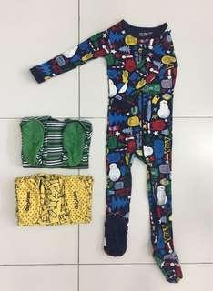 BabyGap Sleepsuits  ( sleep -resistant soles ) 3 pcs (3-4 yr)