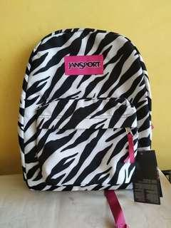 Zebra print pink strap original jansport backpack