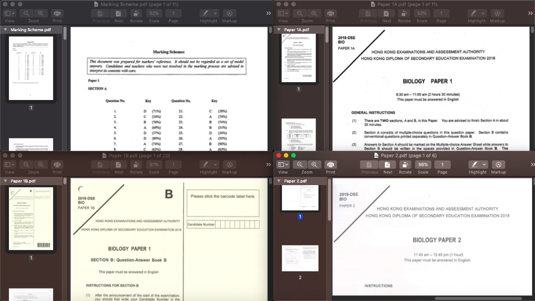 $10 Biology 12-18 pastpaper pdf softcopy with all papers marking scheme