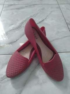 Jelly shoes maroon