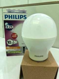 PHILIPS LED warm white 10.5w similar to 85w