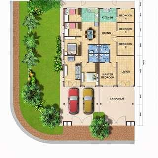 Single Storey Budiman Valley U15, Setia Alam