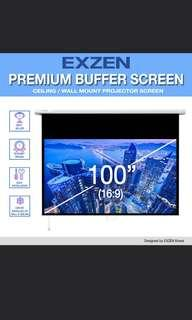 🚚 100'' inches pull down screen