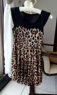 🚚 性感豹紋 小洋裝