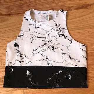Adidas marble sports bra (M)
