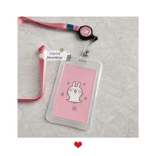 (Retractable) lanyard card holder | ezlink card holder | ID card holder