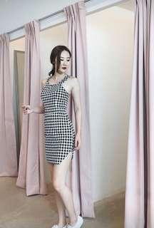 Monochrome Dress B&W