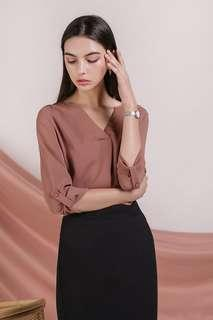 TTR Kerry Origami Blouse Tea Rose