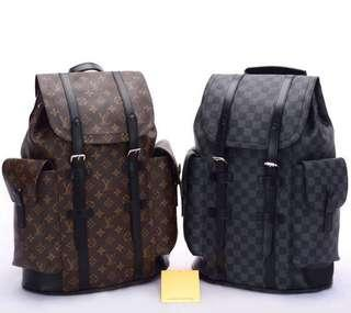 LV Louis Vuitton Official Backpacks Lockme Discounted Bag Brown