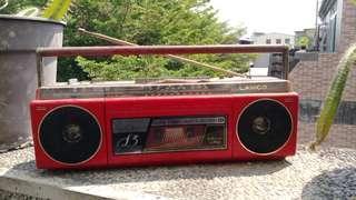 🚚 古早幸福牌小手提收錄音機