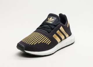 9ec369c9646df ADIDAS ORIGINALS WOMEN SWIFT RUN CORE BLACK GOLD