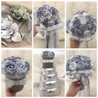 Paket Aksesoris Pernikahan / Akad / Resepsi / Wedding - Silver