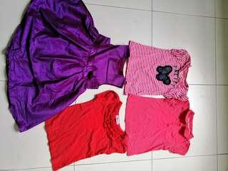 Girl's dress and tops