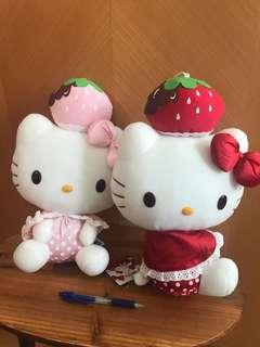 Hello Kitty strawberry 🍓 場景公仔 中size