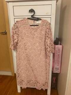 🚚 Ksister lace dress in pink
