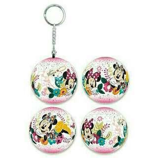 🚚 迪士尼米妮立體球型拼圖鑰匙圈24片