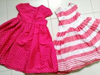 Girl's 4 dresses and 1 tops bundle sales