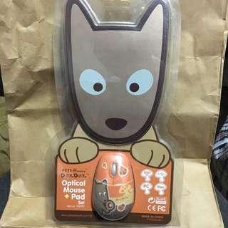 PETS@work DONDON 滑鼠 + 滑鼠墊套裝 optical mouse + pad set
