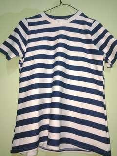 Stripe Tee Navy