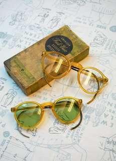 古董AO防護眼鏡一對