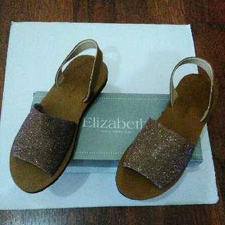 1x Pakai Sepatu Sandal Elizabeth Size 40