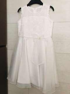 Girls' White Lace Party Dress Size 160