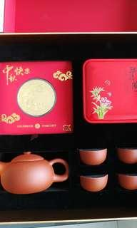 Sk mooncake festival SG50 tea set plus gold coin
