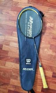 Wilson hyper carbon 8.0 badminton racket