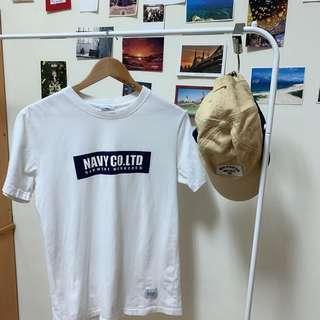 Navy 白色上衣