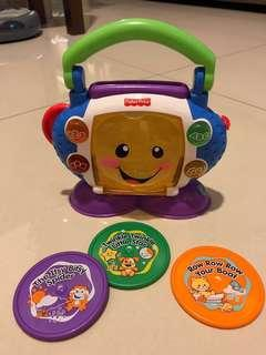 Fisher Price 'Laugh & Learn Sing-with-Me' CD Player Complete with 3 CDs