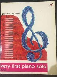 Very First Piano Solo Book by Allan Small
