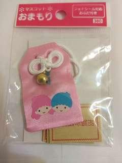 絕版 Sanrio Little Twins Star 日本絹布御守
