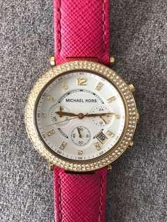 Pink and gold Michael Kors watch