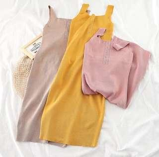 Knit cotton dress T08