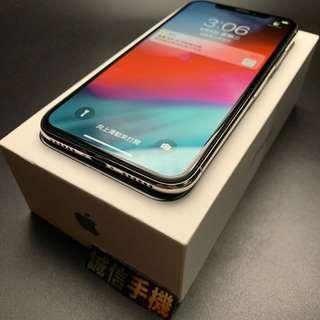 iPhone X 64g Silver White Battery 90% Boxed with Charget Group 換貼優先 限面交